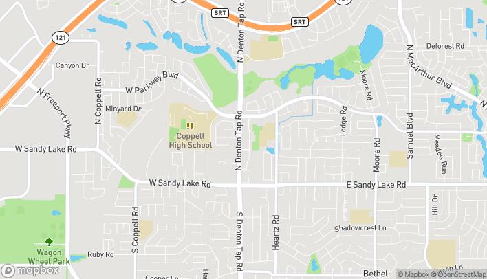 Mapa de 240 N Denton Tap Road en Coppell