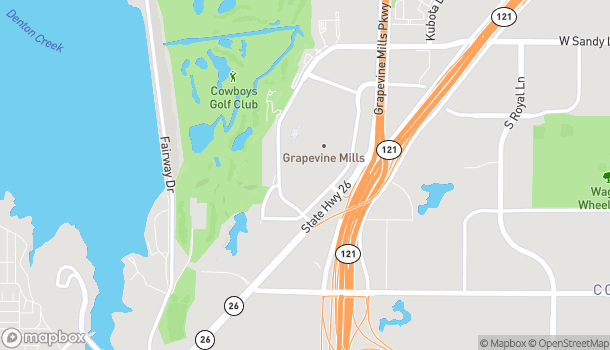 Map of 3000 Grapevine Mills Pkwy in Grapevine