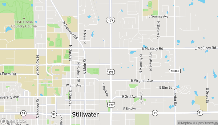Map of 520 E Hall Of Fame Ave in Stillwater