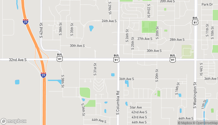 Map of 2851 32nd Ave S in Grand Forks