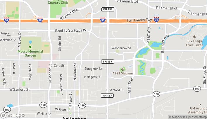 Map of 1002 N Collins St in Arlington