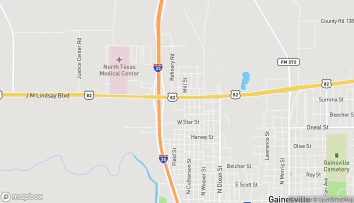 Mapa de 834 W US Hwy 82 en Gainesville