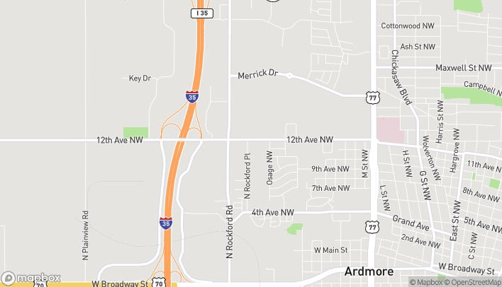 Map of 2240 12th Ave NW in Ardmore