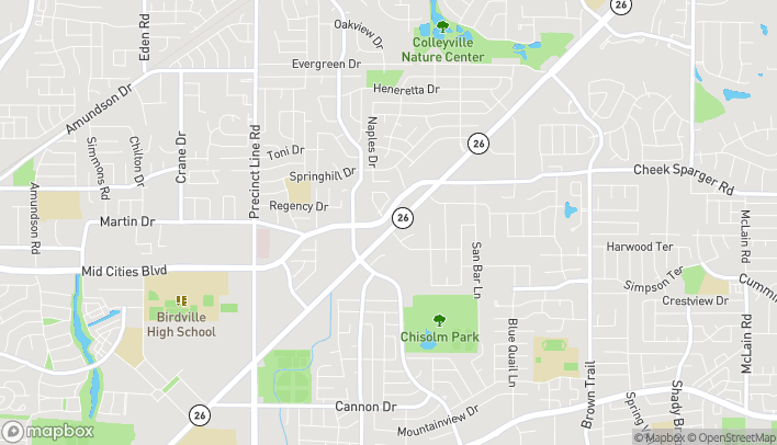 Map of 464 Grapevine Hwy in Hurst