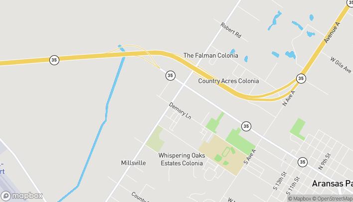 Mapa de 2664 Demory Lane en Aransas Pass