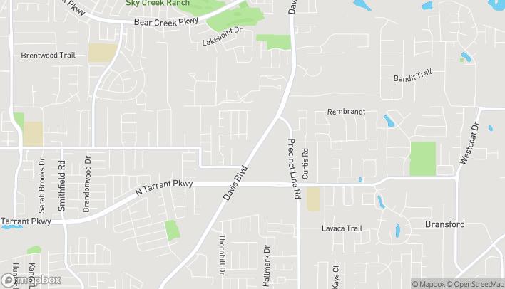 Map of 8525 Davis Boulevard in North Richland Hills