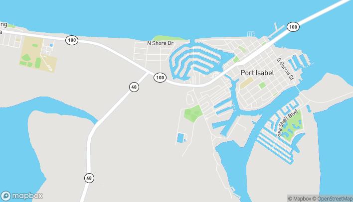 Mapa de 1401 Highway 100 en Port Isabel