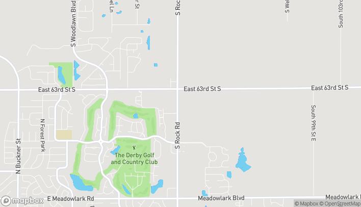 Mapa de 2600 N Rock Rd en Derby