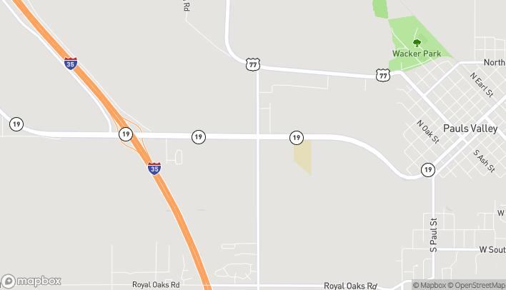 Mapa de 2000 W Grant en Pauls Valley