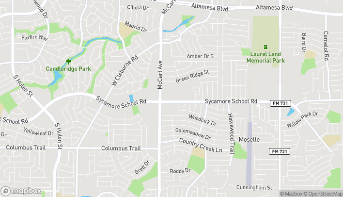 Map of 3212 Sycamore School Rd in Fort Worth