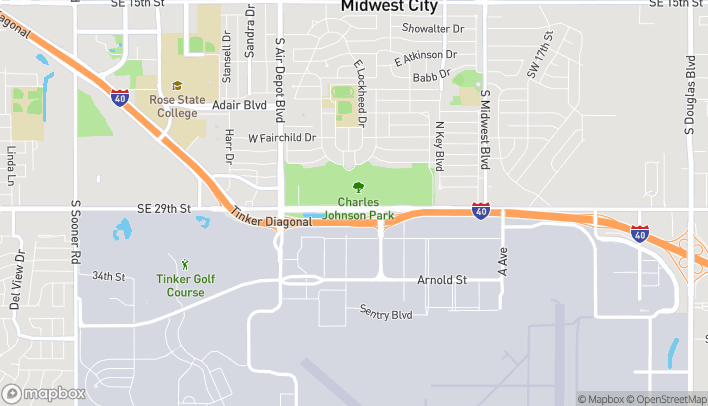 Map of 7205 SE 29th St in Midwest City