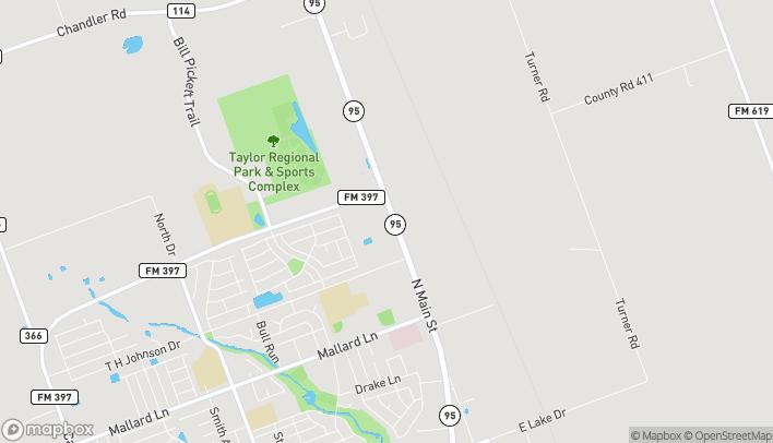 Mapa de 3605 N Main St en Taylor