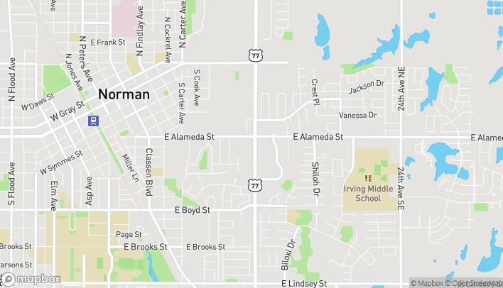 Map of 152 12th Ave SE in Norman