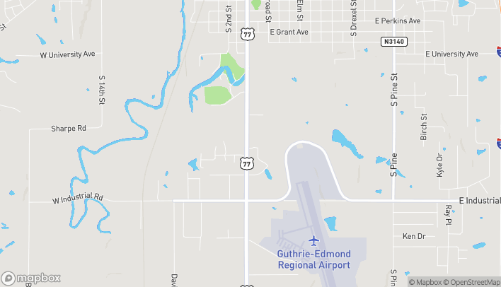 Map of 1624 S Division St in Guthrie