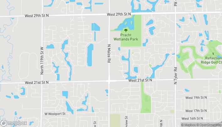Mapa de 2404 N Maize Rd en Wichita