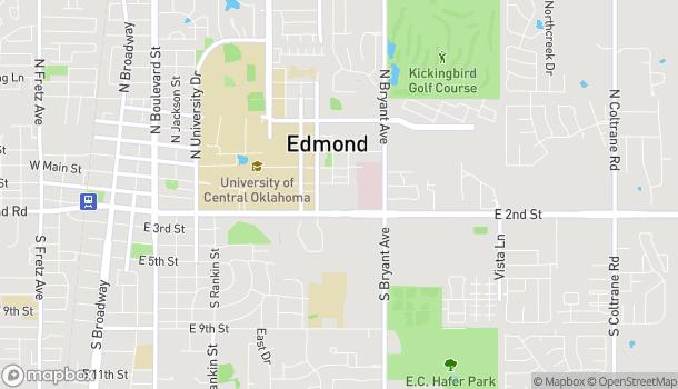 Mapa de 1255 East Second Street en Edmond