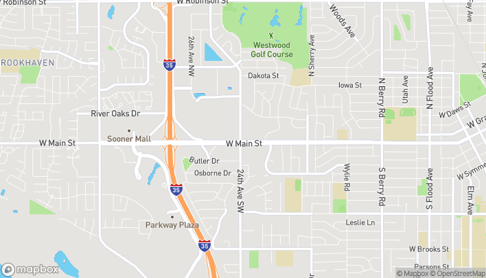 Map of 2351 W Main in Norman