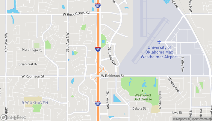 Map of 1444 - 24th Ave NW in Norman