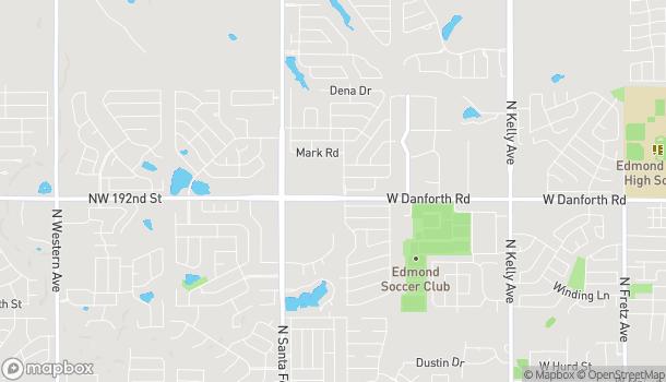 Mapa de 2003 W Danforth Rd en Edmond