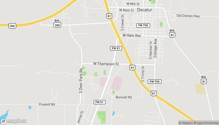 Mapa de 1650 S FM 51 en Decatur