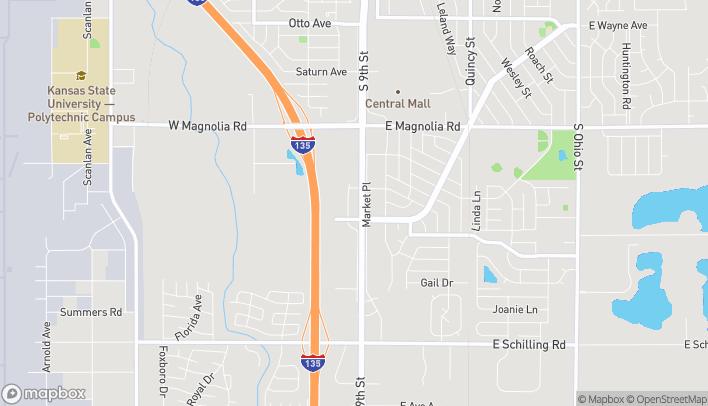Mapa de 2596 S 9th St en Salina