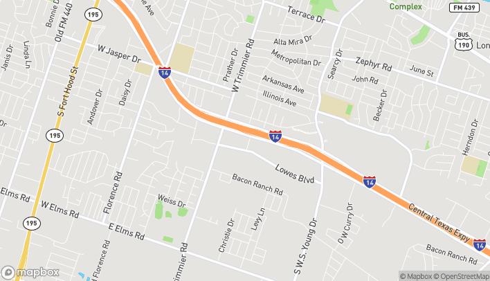 Mapa de 1300 E Central Texas Expy en Killeen