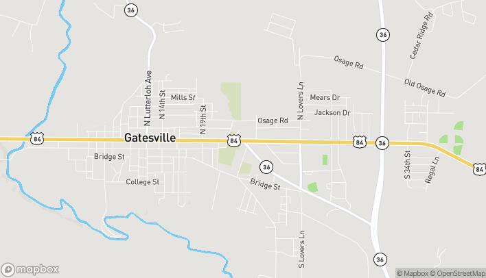 Mapa de 2225 E Main St en Gatesville