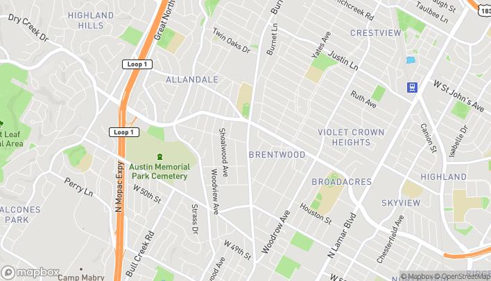 Map of 5700 Burnet Rd in Austin