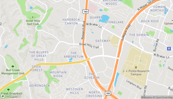 Map of 10001 Research Blvd in Austin