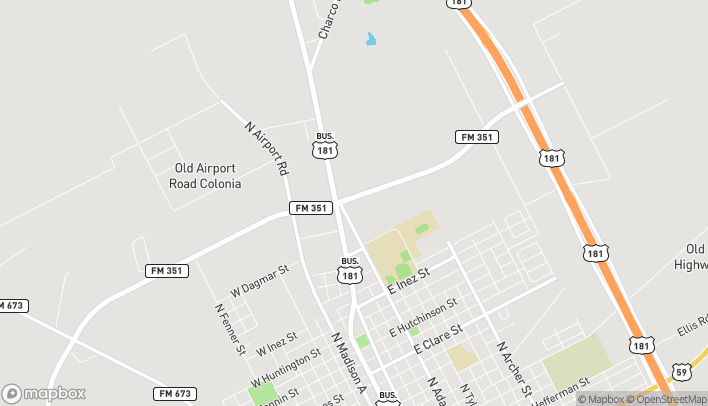 Mapa de 402 E. FM 351 en Beeville