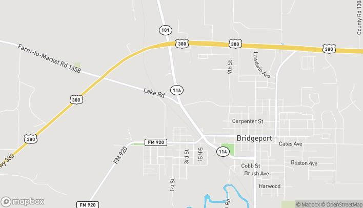 Mapa de 1206 US Highway 380 en Bridgeport