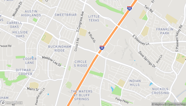 Map of 801 East William Cannon Dr in Austin