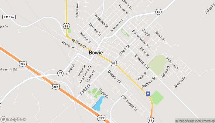 Mapa de 406 E Wise St en Bowie