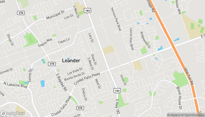 Mapa de 1395 U.S. Hwy 183 en Leander