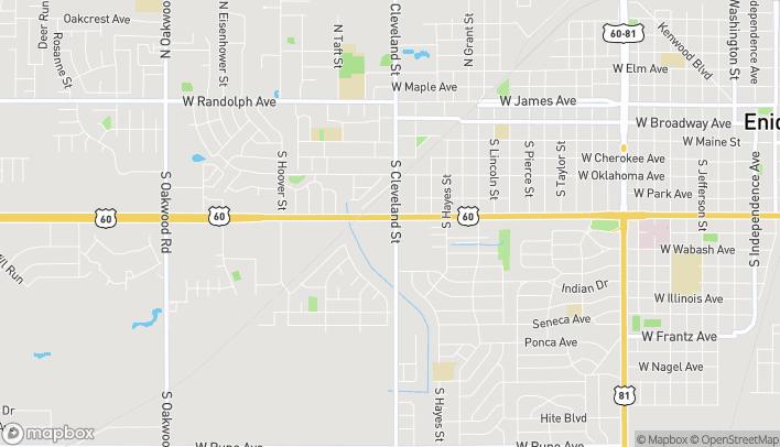 Mapa de 2401 W Owen K Garriott Rd en Enid