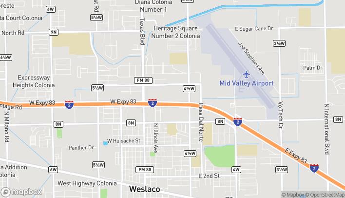 Mapa de 601 E Expressway 83 en Weslaco