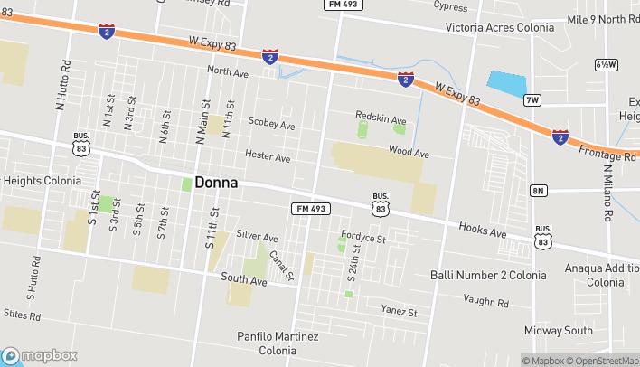Mapa de 110 North Salinas Blvd en Donna