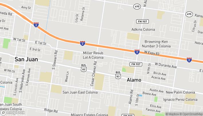 Mapa de 1449 W Duranta Ave en Alamo