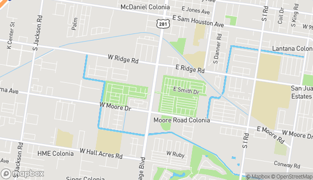 Map of 1513 S Cage Blvd in Pharr