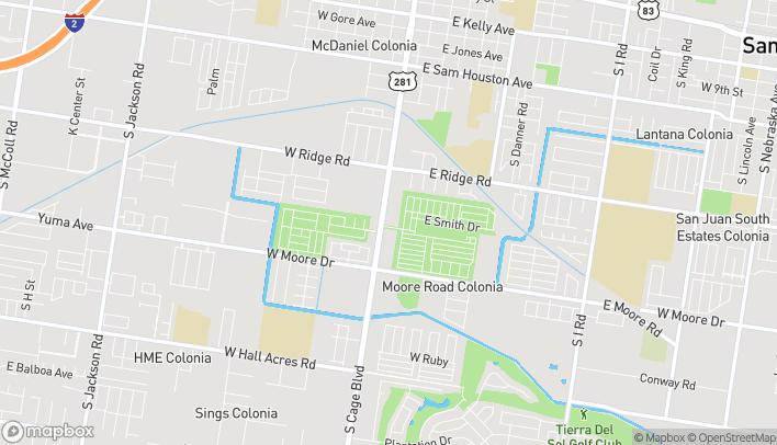 Mapa de 1513 S Cage Blvd en Pharr