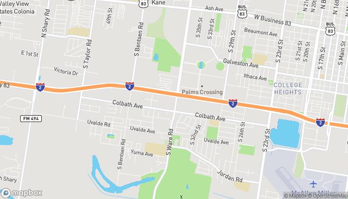Map of 3701 Expressway 83 in McAllen