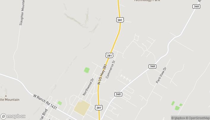 Mapa de 2508 Hwy U.S. 281 North en Marble Falls