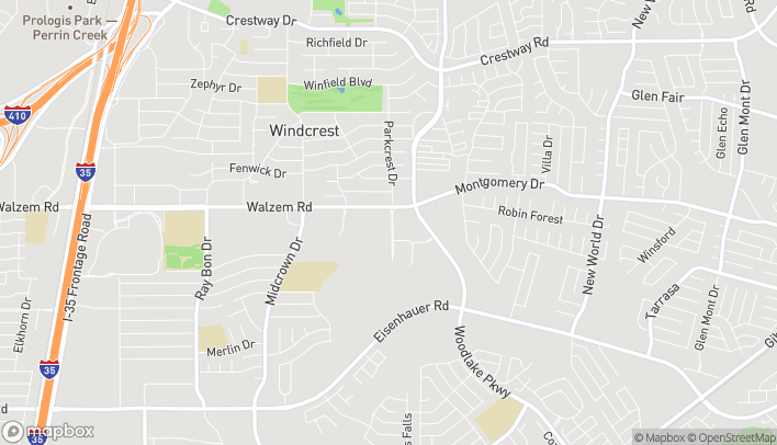 Mapa de 5007 Parkcrest Dr en San Antonio