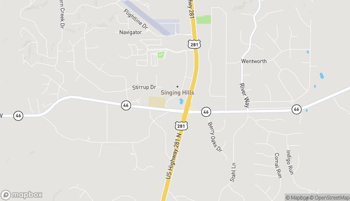 Mapa de 286 Singing Oaks en Spring Branch