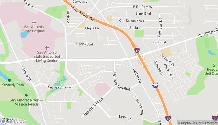 Mapa de 3138 Southeast Military Drive en San Antonio