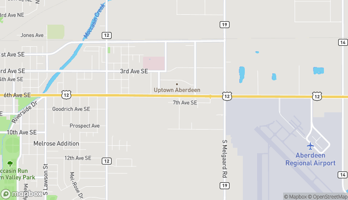 Map of 3307 7th Ave SE in Aberdeen