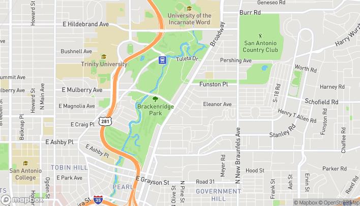 Mapa de 3020 Broadway St en San Antonio