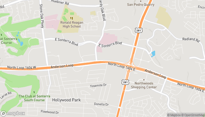 Mapa de 1141 N Loop 1604 E en San Antonio