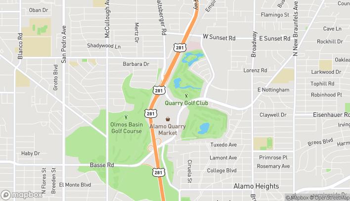 Mapa de 7322 Jones Maltsberger Road en San Antonio
