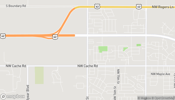 Map of 1740 NW 82nd St in Lawton